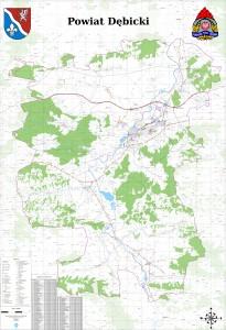 Mapa operacyjna powiatu dębickiego