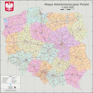 Mapa administracyjno-drogowa